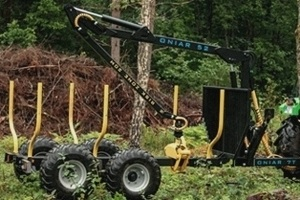 Onair 52 Timber trailer, crane and grapple