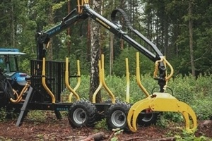 Onair 67s forestry trailer crane and grapple