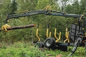 Onair 67forestry crane, 12t forestry trailer and G23 grapple