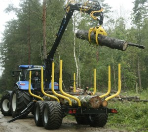 Oniar 83 Forestry Crane, 14t trailer and G23 grapple